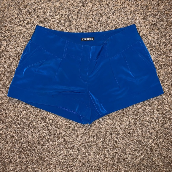 Express Pants - Express silky blue shorts (also selling in olive)